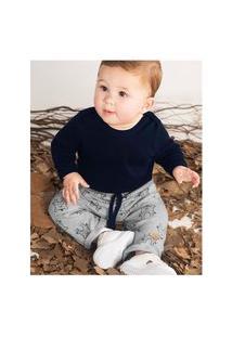 Calça Suedine Infantil Bebê Rn Estampa Sortida Rovitex