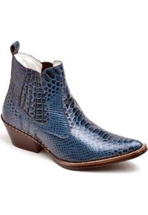 Bota Top Franca Shoes Country - Masculino-Azul
