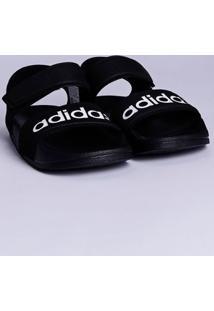 Sandália Adidas Adilette Infantil Para Menino - Preto/Branco