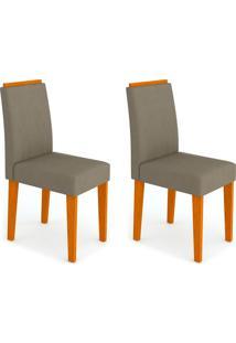 Conjunto Com 2 Cadeiras Ana Ipê E Cinza