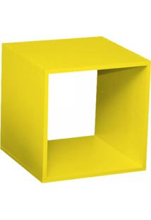 Nicho Cubo Com Fundo Branco Enea Baby Bramov Móveis Amarelo