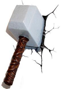 Arandela 3D Martelo Do Thor 1,5W Marrom Startec