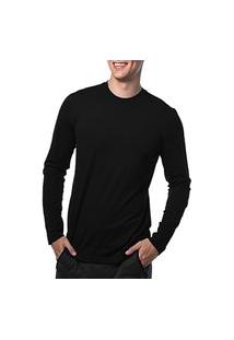 Camiseta Manga Longa Básica Algodáo 100% Camisa Blusa