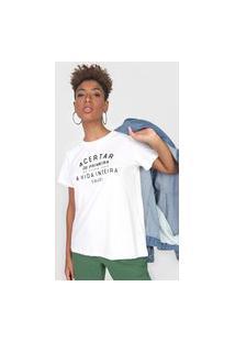 Camiseta Colcci Acertar Off-White
