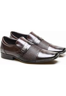 Sapato Social Versales Com Fivela E Tressê Estilo Masculino - Masculino