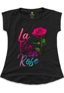 Camiseta Feminina T-Shirt Cool Tees La Vie En Rose - Feminino