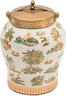 Vaso Decorativo De Porcelana Le Palmier Ii M
