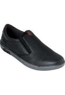 Sapato Pegada Preto Em Couro