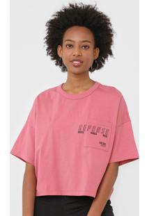 Camiseta Colcci Repense Rosa