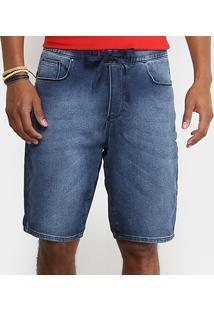 Bermuda Jeans Cavalera Moletinho Denim Masculina - Masculino