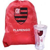 cd5d2b2ff5704 Kit Copo Com Canudo 550Ml+Mochila Tipo Saco Flamengo - Unissex