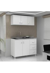 Cozinha Completa 2 Peças Evidência Móveis Branco