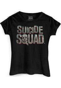 Camiseta Dc Comics Bandup! Esquadrão Suicida Logo - Feminino