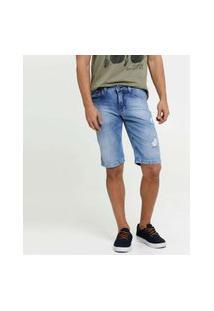 Bermuda Masculina Jeans Destroyed
