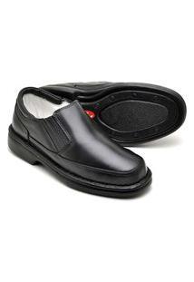 Sapato Social Masculino Preto Tamanho Especial Em Couro 2009