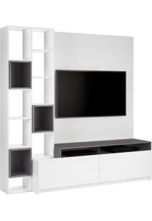 Estante Home Para Tv 49 Polegadas Nolli Branca E Cinza
