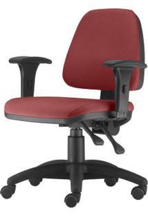 Cadeira Sky Com Bracos Assento Crepe Vermelho Base Nylon Arcada - 54797 - Sun House