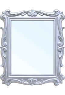 Espelho San Remo Entalhado Em Resina E Pintura Em Laca Prata