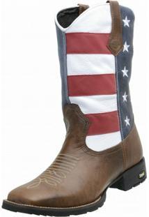 Bota Estevam Boots Texana Multicolorido