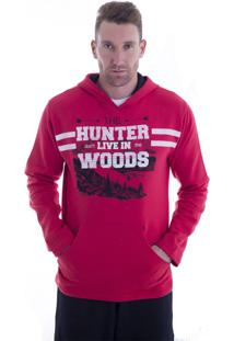 062f614955 Blusa Moletom Hunter Radical Style Vermelho 4315 - Gg