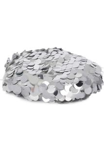 Maison Michel Sequin Billy Hat - Prateado