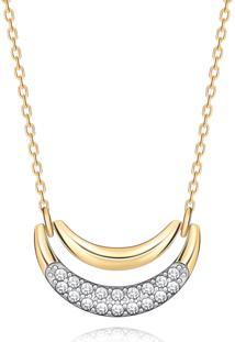 Colar Em Ouro Amarelo 18K Com Diamante
