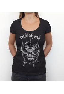Radiohead - Camiseta Clássica Feminina
