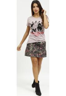 "Camiseta ""World Famous""- Rosa & Preta- Coca-Colacoca-Cola"