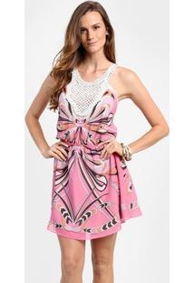 Vestido Triton Renda - Feminino