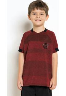 Camiseta Infantil Flamengo Vision Vermelha