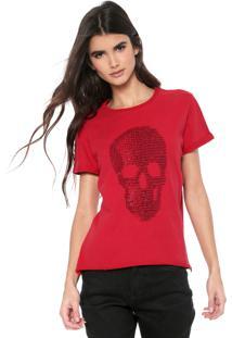 Camiseta Triton Lettering Caveira Vermelha