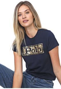 Camiseta Polo Ralph Lauren Reta Azul-Marinho