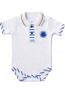 Body Bebê Manga Curta Polo Menino Cruzeiro