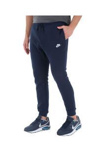 Calça De Moletom Nike Sportwear Jogger Flc Club - Masculina - Azul Escuro