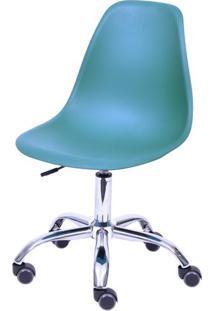 Cadeira Eames Com Rodizio Polipropileno Azul Petroleo - 43042 - Sun House