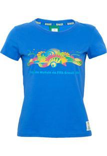 Camiseta Licenciados Copa Do Mundo Feel Azul