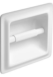 Porta Papel Higiênico De Embutir Branco
