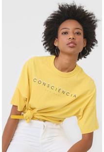 Camiseta Colcci Consciência Amarela