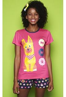 Pijama Curto Dogs Adulto