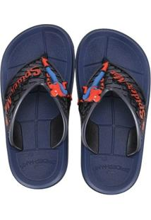 Chinelo Infantil Homem Aranha Super Flop Spider Effect Masculino - Masculino