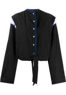 Plan C Snap-Button Jacket - Preto