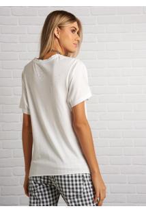 Camiseta John John Brasil Star Malha Off White Feminina (Shirt Brasil Star, G)