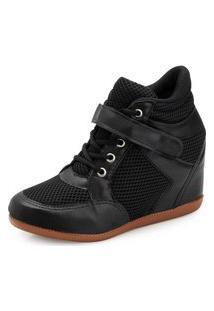 Tênis Sneaker Ana Lucia Al19-2000Bidi-Nylon Preto