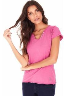 Camiseta Sidewalk Árabe Feminina - Feminino-Rosa