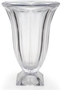 Vaso De Vidro Decorativo Juno 35 Cm Transparente Hauskraft