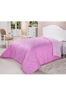 Edredom De Fibra Dupla Face 200 Fios Casal 220X240 Pink Deluxe