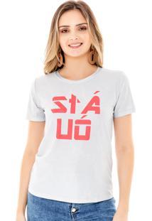 T-Shirt Amora Café Estampada Cinza