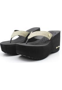 Tamanco Barth Shoes Sorvete Gliter - Ouro