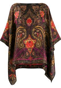 Etro Paisley Print Tunic Top - Marrom