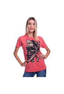 Camiseta Jazz Brasil Caveira Sk8 Vermelha
